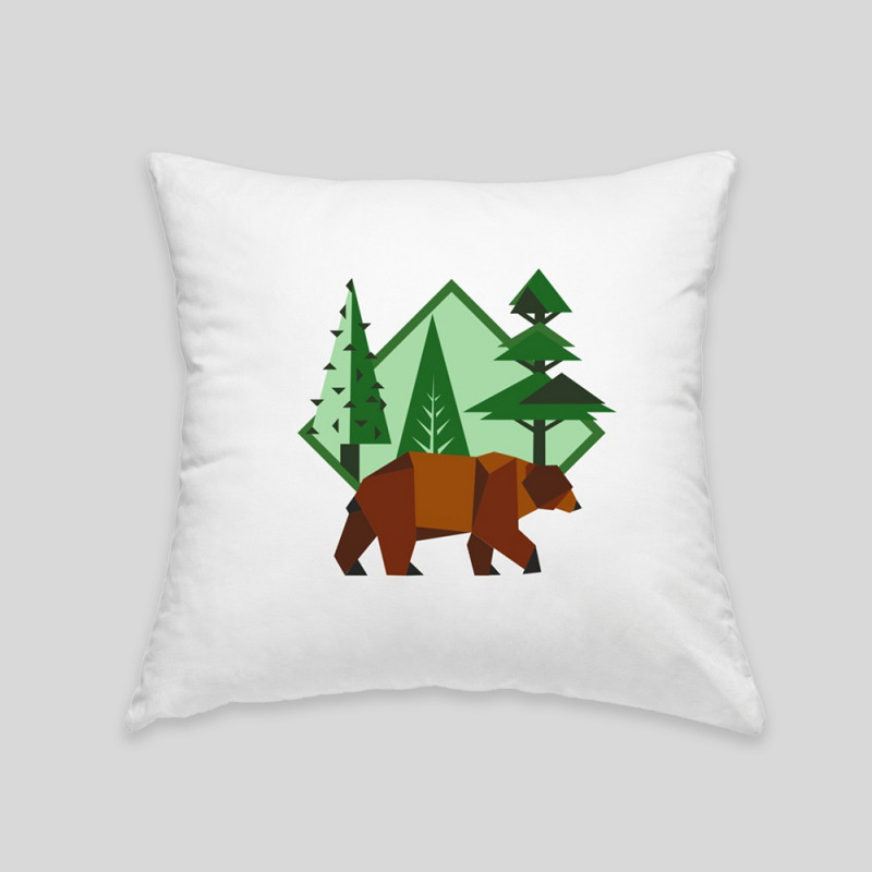 Coussin ours brun